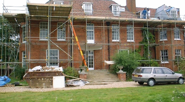 Domestic Scaffolding Around Home in Bedford for their Home Renovation