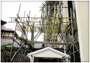 Side view of Domestic Scaffolding